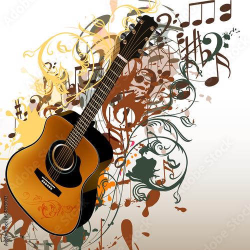 grunge-muzyczny-wektorowy-tlo-z-gitara-i-notatkami
