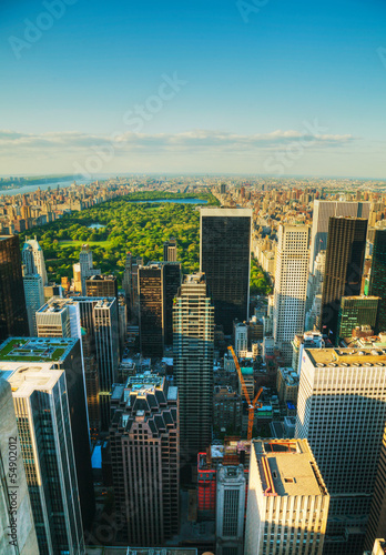 New York City cityscape with the Central Park Poster Mural XXL