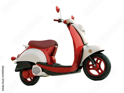 Photo Classic scooter isolated
