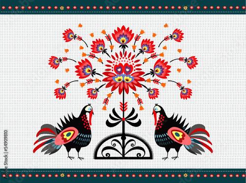 Tapety Ludowe  wzor-ludowy-z-indykami