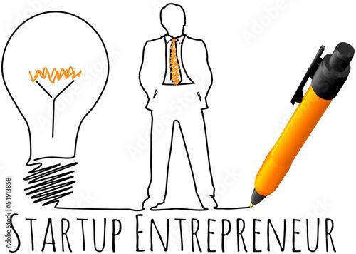 Fotografie, Obraz  Entrepreneur startup business model
