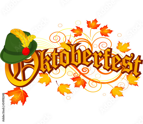 Garden Poster Fairytale World Oktoberfest celebration design