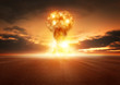 canvas print picture - Atom Bomb Explosion