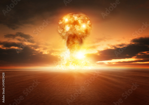 Atom Bomb Explosion Poster