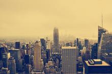 Skyline Von New York Im Nebel