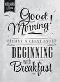 Poster Good morning! beginning coal