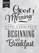 Poster Good Morning! Beginning...