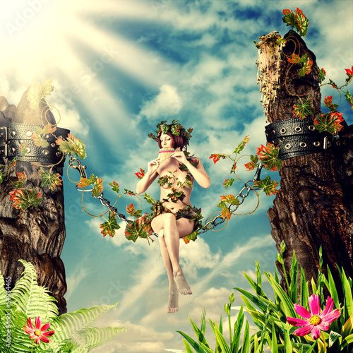 Photo Stands Fairies and elves Young beautiful fairy woman
