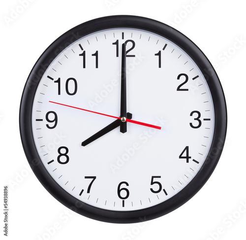 Fotografía  Eight o'clock on the dial clock