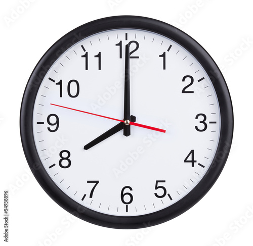 Photo Eight o'clock on the dial clock
