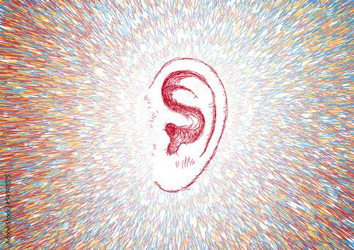Foto  Ohr- und Schallwellen