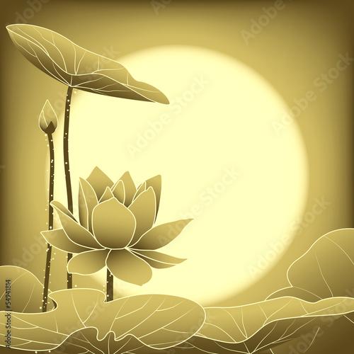 Oriental Mid Autumn Festival Lotus Flower