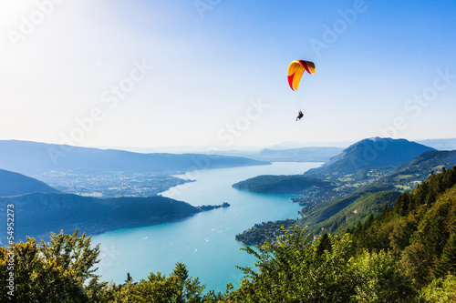 Printed kitchen splashbacks Mountains View of the Annecy lake from Col du Forclaz