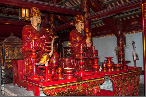 Papiers peints Confucius Statue in Complex Temple of Literature