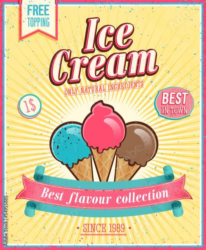 plakat-rocznika-lody-ilustracji-wektorowych