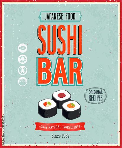 plakat-w-stylu-vintage-sushi-bar-ilustracji-wektorowych