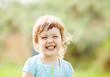 Leinwandbild Motiv happy laughing girl