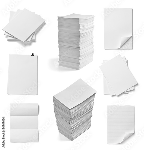 Vászonkép stack of papers documents office business