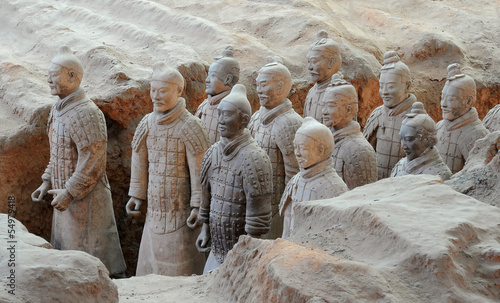 Tuinposter Xian Terracotta army warriors in Xian, China
