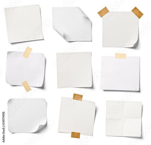 white note paper office business Fototapeta