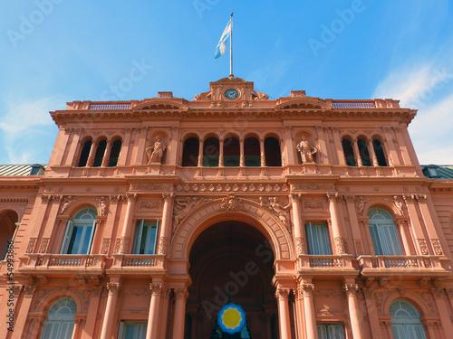 Montage in der Fensternische Buenos Aires Präsidentenpalast Casa Rosada in Argentinien