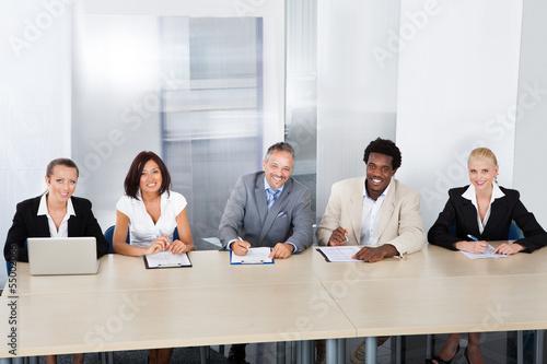 Obraz na plátně  Panel Of Corporate Personnel Officers
