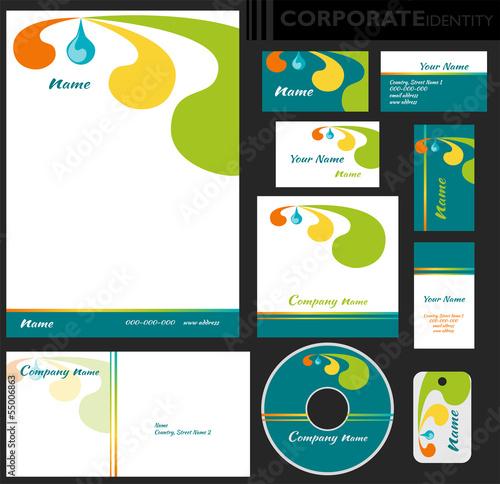 Identyfikacja wizualna firmy, zestaw Canvas Print
