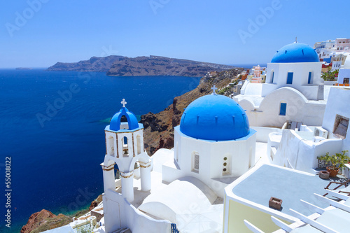 Spoed Foto op Canvas Mediterraans Europa White architecture of Oia village on Santorini island, Greece
