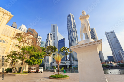 Sir Stamford Raffles statue, Singapore City Canvas Print