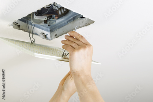 Installing Clean Bathroom Fan Vent Cover Buy This Stock Photo And - How to clean bathroom fan