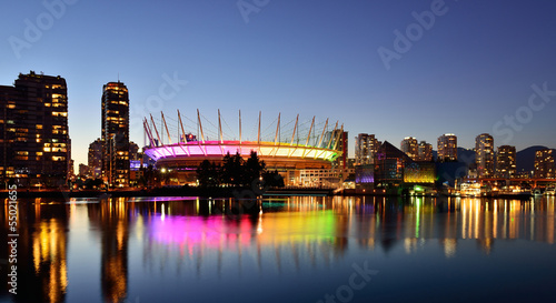 BC Place and False Creek, Vancouver cityscape