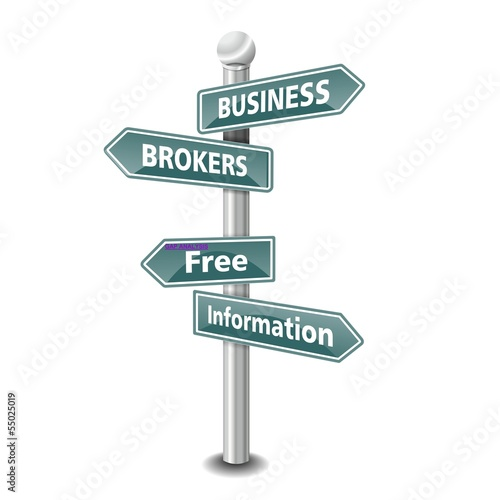 BUSINESS BROKERS icon as signpost - NEW TOP TREND - Buy this