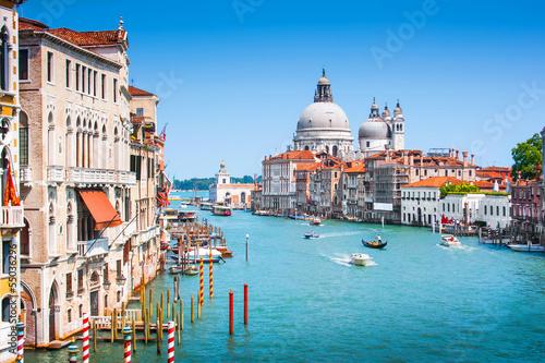 Fototapety, obrazy: Grand Canal and Basilica Santa Maria della Salute, Venice, Italy