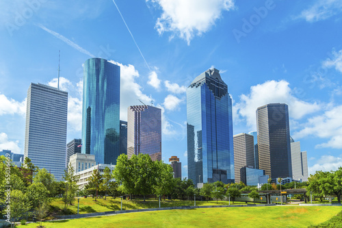 Montage in der Fensternische Texas Skyline of Houston, Texas