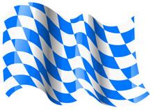 Bayern Fahne Wehend Bavaria Fl...