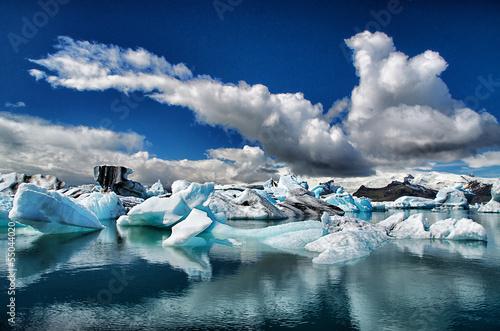 Staande foto Gletsjers Gletscherlagune Island