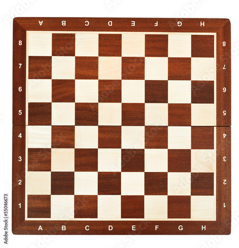 wooden chessboard Canvas Print