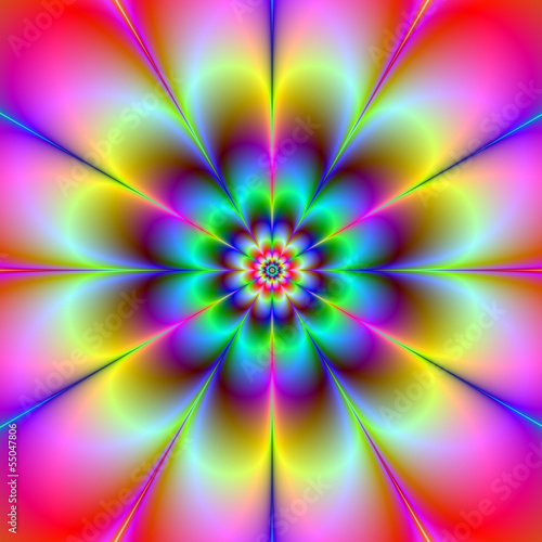 Poster Psychedelic Electric Flower