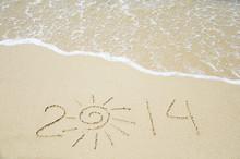 Number 2014 On The Sand - Holi...