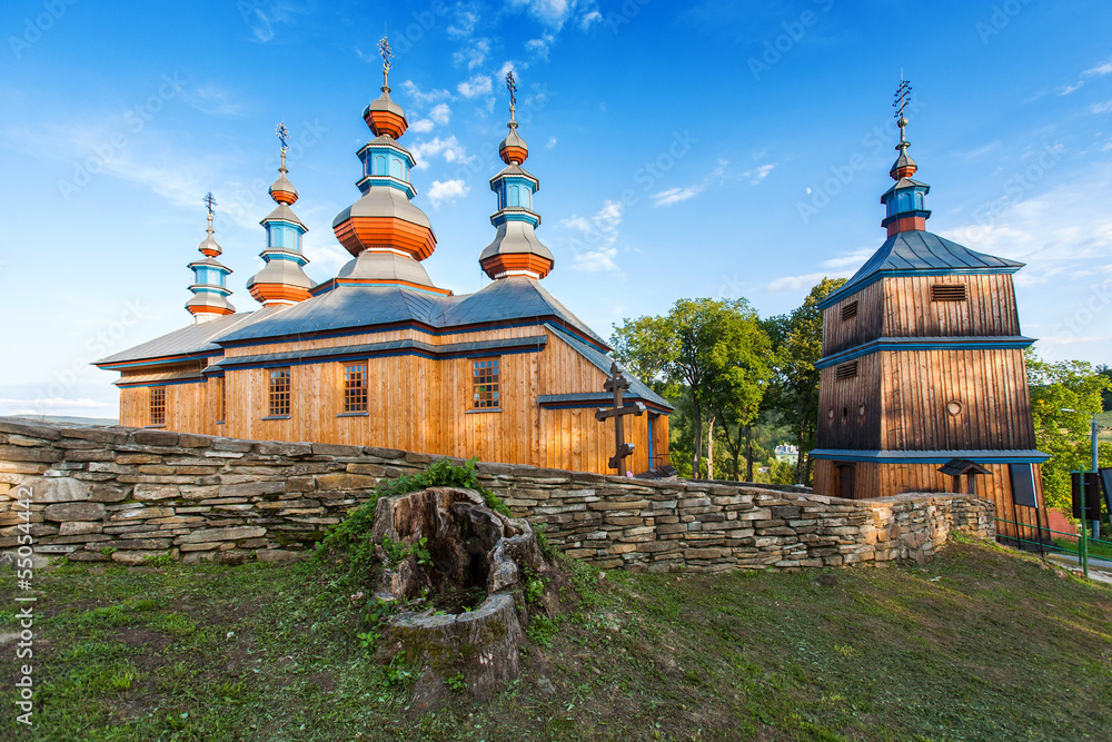 Fototapeta Eastern Orthodox Church in Komancza, Poland