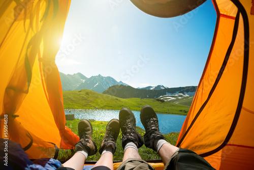 Poster Camping hiking