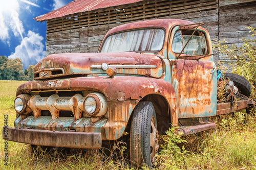 Photo  1950 Vintage Ford F5 Pickup Truck