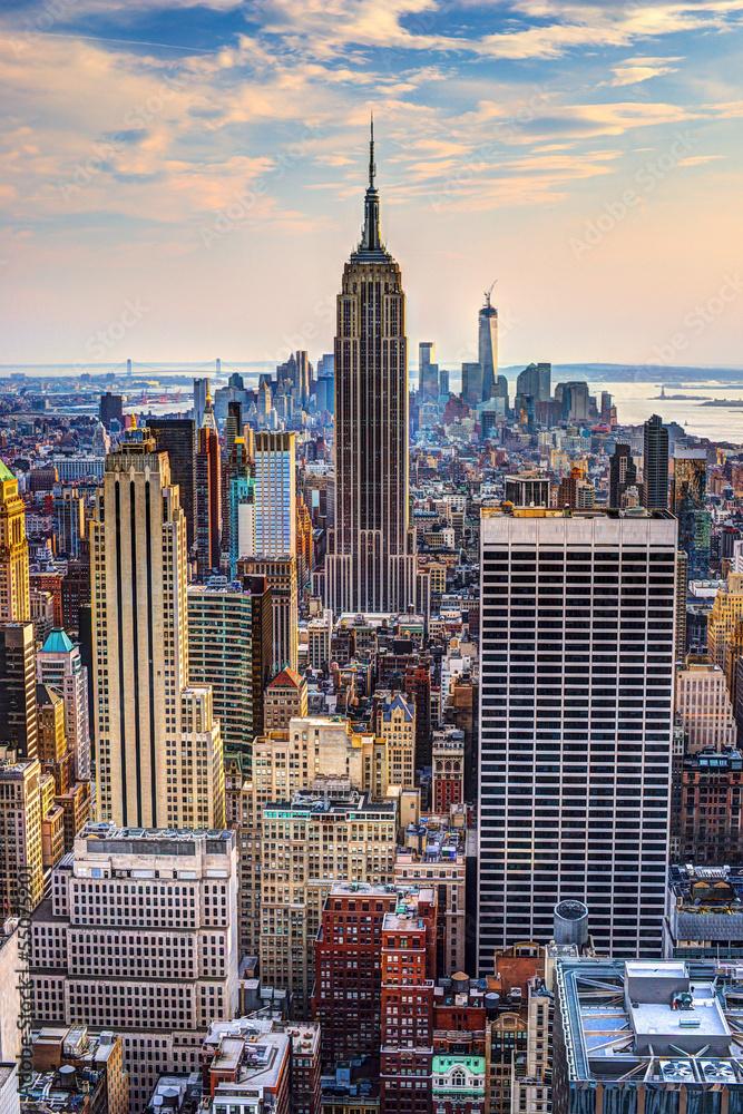 Fototapety, obrazy: Nowy Jork o zmierzchu