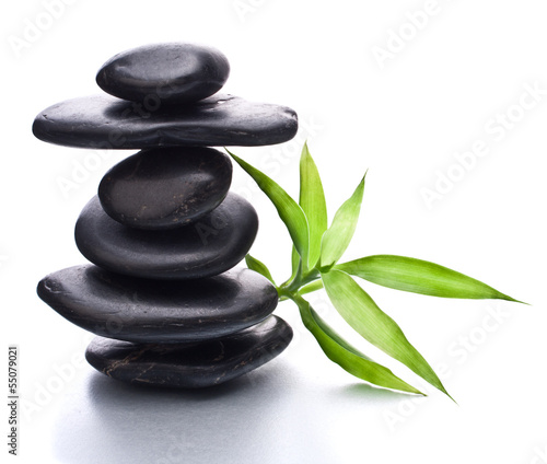 Tuinposter Zen Zen pebbles balance. Spa and healthcare concept.