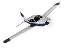 Small Modern Passanger Airplane