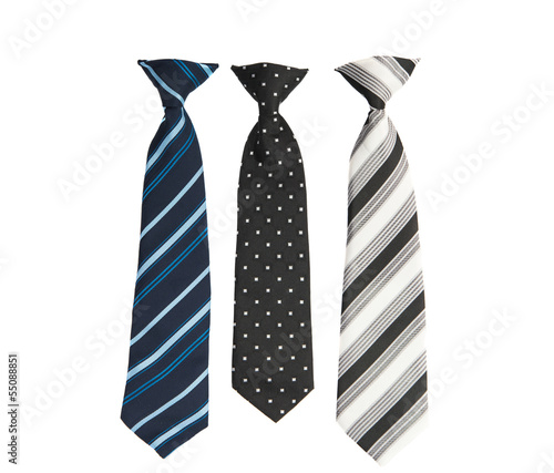 Photographie men's necktie isolated