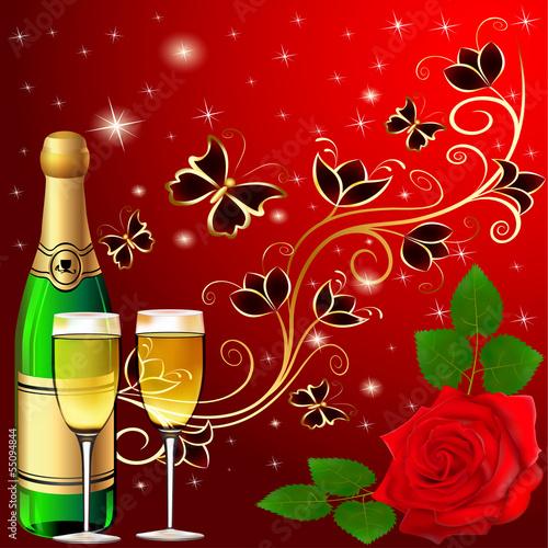 tlo-uroczysty-z-motyle-i-szampana-rozanego