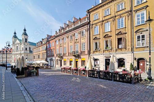 Fototapeta Street in Warsaw, Poland obraz
