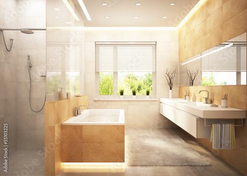 Stampa su Tela  Bathroom in modern home
