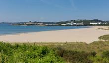 Par Sandy Beach And Blue Sea Cornwall England